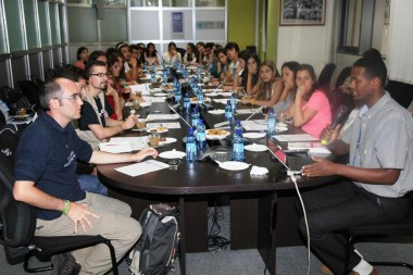 Spanish university students learn more about the work of the UN in Ethiopia