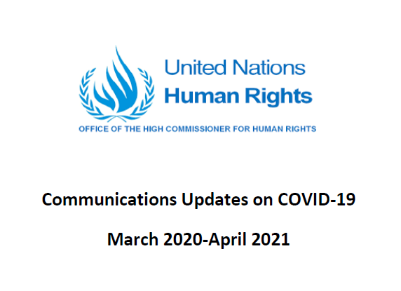 OHCHR Communications Update on COVID-19